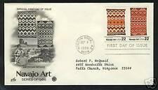 "USA  1986  FDC  Scott # 2237-38  ""Navajo Art"""