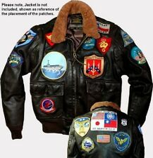 17-PATCH SET FOR G-1 FLIGHT JACKET AS ON TOP GUN MOVIE (patch set only no jacke)