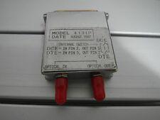 Fiber Optic RS-232 Serial Modem 4131P Ground Loop Isolation Adapter Converter