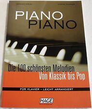 """Von Klassik bis Pop für Piano """"100 Melodien"""" leicht"""