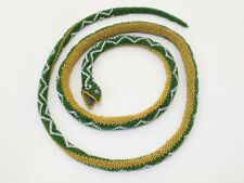 "Antique huge WW1 Ottoman Turkish Prisoner of War snake beaded beadwork POW 54"""