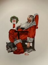 Vintage Norman Rockwell The Day After Christmas Santa Collectors Plate 10.5 inch