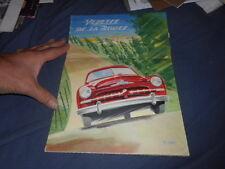 1950 Ford Vedette from France Color Brochure  Prospekt