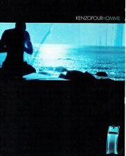 Publicité Advertising  2001  Kenzo  eau toilette pour  homme