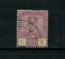 Malaya Johore 10c on thin striated paper, SG 112a,1941, KGVI, difficult used