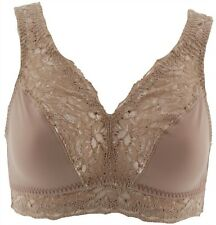 Breezies Set Two Soft Support Lace Bras Warm Beige M NEW A307831