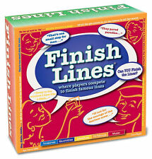 NEW 2007 10TH ANNIVERSARY FINISH LINES QUOTE TRIVIA QUIZ PARTY BOARD GAME