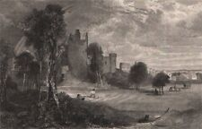 Craigmillar Castle, Edinburgh. Scotland 1845 old antique vintage print picture
