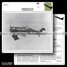 #036.19 FOKKER D XXI (D21) - Fiche Avion Airplane Card
