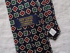 New Haven Neckwear Company Mens 100% Silk Tie Necktie