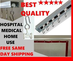 Medical Curtain Standard Carrier with Rollers for Hospital Cubicle Track, 50 PS
