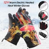Motorcycle Electric Heated Warm Heat Winter Hand Gloves Thermal Waterproof Ski
