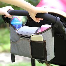 Baby Kinderwagen Pram Pushchair Veranstalter Tasche Flasche Windel Halter GE