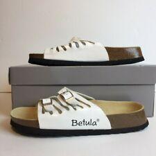 Birkenstock Betula White Buckle Strap Leather Cork Womens US 6 Sandals Shoes