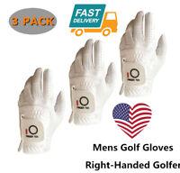 Mens Golf Gloves Large Left Hand For Right-Handed Golfer White 3 Pack Pick Size
