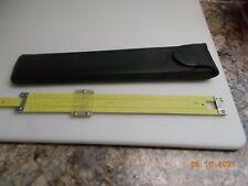 Vintage Pickett N-1010-ES Trig Slide Rule All metal, with Pickett Leather Case