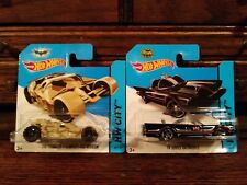 HOT WHEELS 2014 TV Series Batmobile & Camo Tumbler Short Card LOT NIP