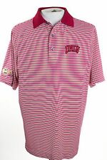 Footjoy ProDry Lisle UNLV PGA Patch Mens Sz M Medium Red White Stripe Golf Polo