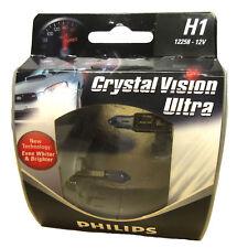 Philips H1 12258 CVS2 CrystalVision Ultra Headlight Bulb (Pack of 2) Classic
