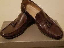 Giorgio Armani Men's Shoes Brown  leather loafers tassel 9 UK 10 US 43 pre owned