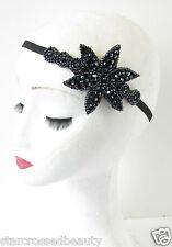 bleu marine perlé bandeau Années 1920 SUPER Gatsby Charleston COIFFE VINTAGE