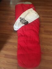 Vintage The North Face Down Sleeping Mummy Bag Brown White Label USA Large Red