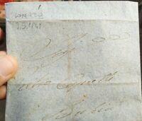 1841 PREFILATELICA DA LONATO DEL GARDA A BRESCIA