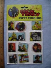 1990 Dick Tracy Puffy Stick-Ons. Mint in package. Walt Disney Company.