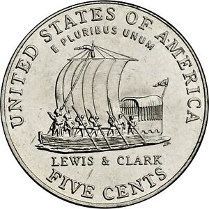 United States Unc 2004-P Jefferson Keelboat Nickel~Excellent