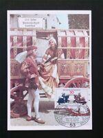 BRD MK 1975 844 LANDSHUTER HOCHZEIT PFERD RITTER CARTE MAXIMUM CARD MC c5889