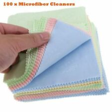 100Pcs Microfibre Cleaning Cloth for Glasses Camera Lens Phone 4 Colors Mixing