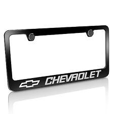 Chevrolet Black Metal License Plate Frame, Official Licensed, Warranted