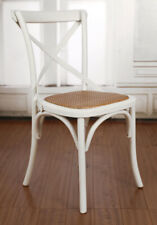 Dining Chair White French Provincial Cross Back Chair Seat Cafe Style Hardwood
