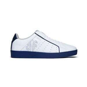 NEW Men's Royal Elastics ICON GENESIS White Blue Leather Sneakers 01901-005