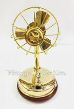 Vintage Brass Fully Working Electric Fan with 3 blades Collectables Table Fan
