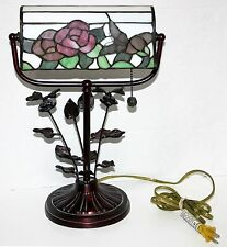 Gorgeous Dale Tiffany butterfly DESK LAMP Engraved Signature Brushed bronze