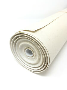 16yd Unstretched Primed Artist Canvas 16.75in x 48ft Roll Gesso blank painters