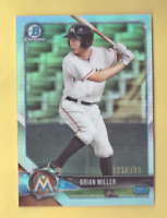 2018 Bowman Chrome BRIAN MILLER Refractor 336/499 Marlins Mint