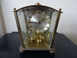 Vintage Kern German Square Torsion Anniversary Clock 1950s