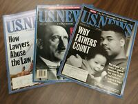 1995 U.S. NEWS & WORLD REPORT MAGAZINE - LOT OF 3, Hitler, Why Fathers Count