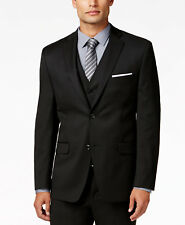 $300 ALFANI men BLACK SLIM FIT TWO BUTTON SUIT JACKET BLAZER SPORT COAT 46 L