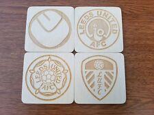 Leeds united fc , laser engraved coasters set , gift idea