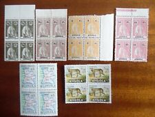 Rare 6 lots of Portuguese Angola blocks with Ceres and other stamps Mnh