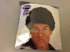 Jheri Curl Wig Black Curly Hair Halloween Costume Character Fun World Adult Wig