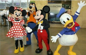 Mickey Minnie Mouse Donald Goofy Mascot Costume Party Dress Birthday Adults Size