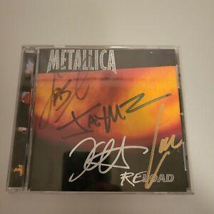 Metallica signed CD **Reload **1997**4 members **