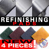NEW! 4 x Refinishing Pad! BRUSHED - GOLD/SILVER/STEEL/TITANIUM - Scratch Removal