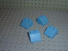 4 x LEGO Mdblue Slope Brick 3039 / Set 4405/7315/4400/7312/7870/4924/4518/4762..