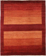 8x11 Hand-Knotted Gabbeh Carpet Tribal Red Fine Wool Area Rug D29354