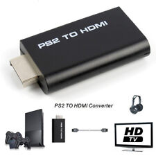 PS2 to HDMI Audio Video Cable Converter Adapter with 3.5mm Audio Output Monitor